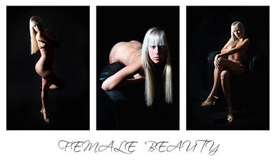 Trio Photograph - Female Beauty 3 by Jochen Schoenfeld