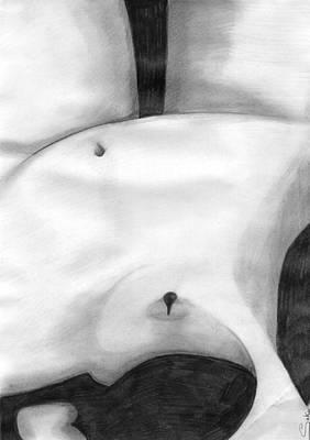 Drawing - Female Body by Saki Art