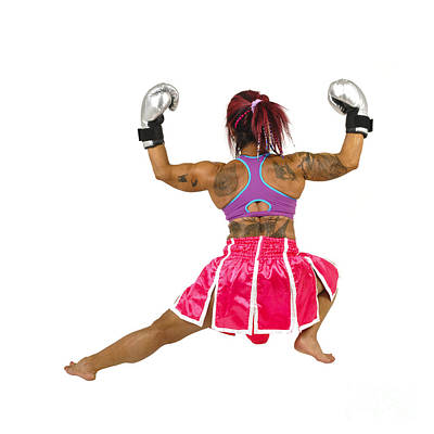 Contact Sport Photograph - Female Boxer Flexes Her Muscles  by Ilan Rosen
