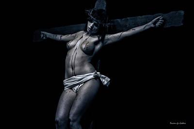 Female Christ In Dark I Art Print