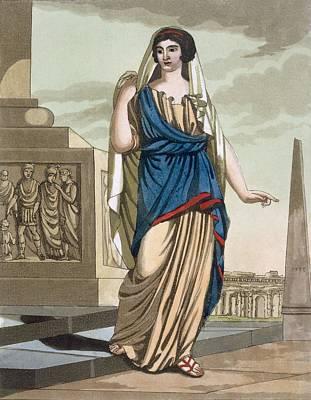 Female Citizen Of Ancient Rome, A Folio Art Print by Jacques Grasset de Saint-Sauveur