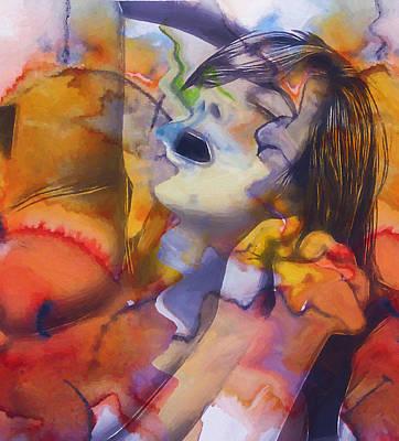 Female Climax Art Print by Steve K