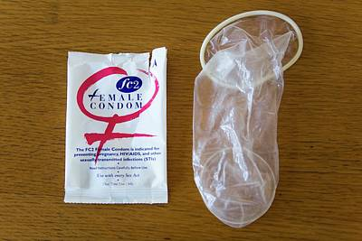 African Sex Photograph - Female Condoms In Africa by Ton Koene