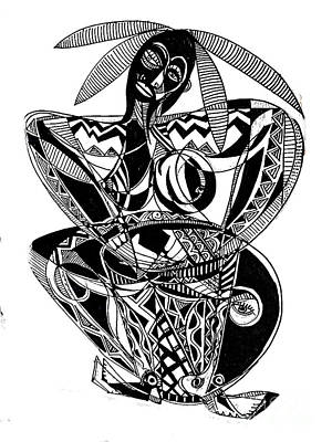 Female Drummer Art Print by Robert Daniels