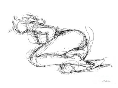 Female-erotic-sketches-8 Art Print