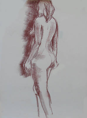 Painting - Female Form Standing Nude by Anita Dale Livaditis