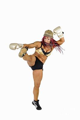 Female Kick Boxer 2 Art Print by Ilan Rosen