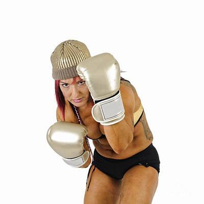 Female Kick Boxer 3 Art Print by Ilan Rosen