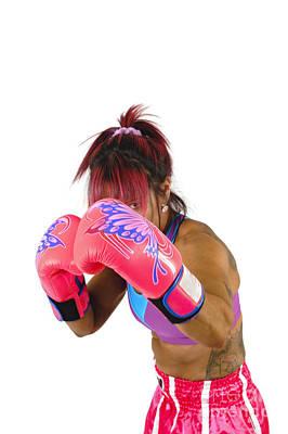 Female Kick Boxer  Art Print by Ilan Rosen
