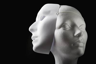 Female Mannequin And Mask Print by Kelly Redinger