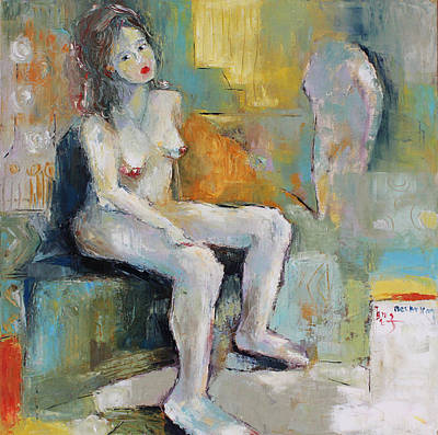 Painting - Female Nude 2 by Becky Kim