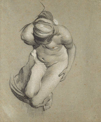 Nudes Drawing - Female Nude  by Jacob Adriensz Backer