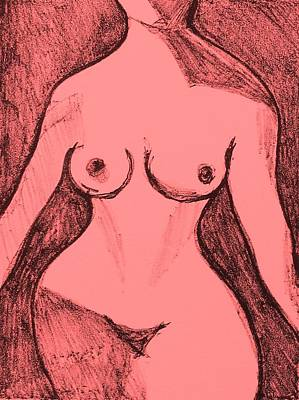 Drawing - Female Nude Figure by Anita Dale Livaditis
