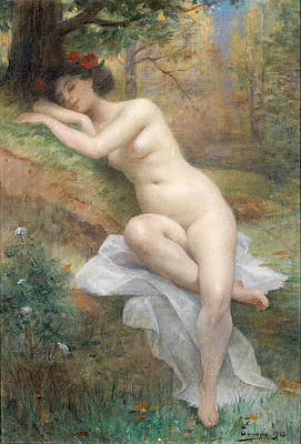 Henri Adrien Tanoux Painting - Female Nude In A Forest Landscape by Henri Adrien Tanoux