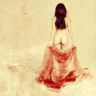 Sexy Nude Mixed Media - Female Nude by Jelena Jovanovic