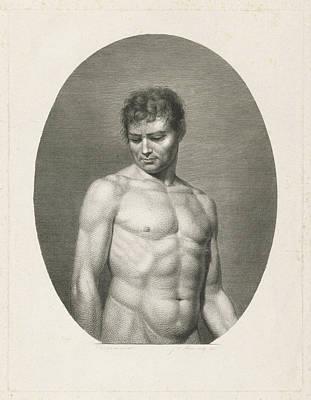 Proportions Drawing - Female Nude, Johannes De Mare by Johannes De Mare