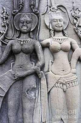 Photograph - Female Representation Carving On Temple by Sami Sarkis