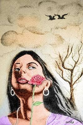 Female  Art Print by Sarika Joshi