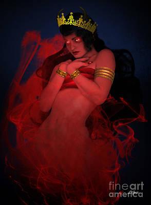 Female Shaitan Djinn Art Print by Pixl Vixl