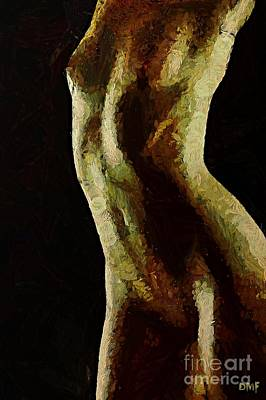 Nude Painting - Female Shape by Dragica  Micki Fortuna