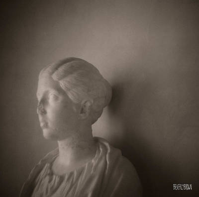 Sepia Tone Photograph - Female Statue With Broken Nose by Beverly Brown