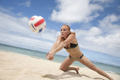 Laid -back Art Photograph - Female Volleyballer by Brandon Tabiolo