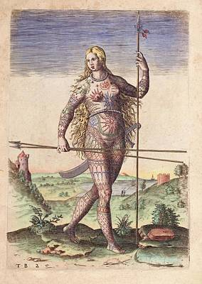 Theodor De Bry Photograph - Female Warrior by Paul D Stewart