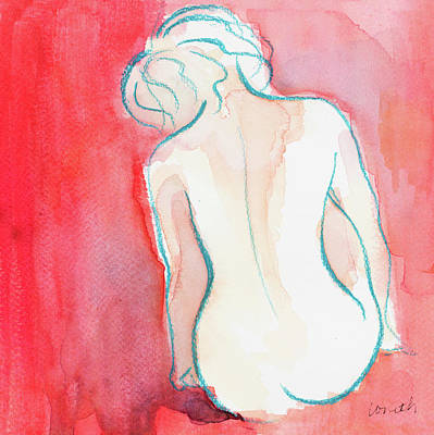 Watercolor Figure Painting - Female Watercolor Figure I by Lanie Loreth