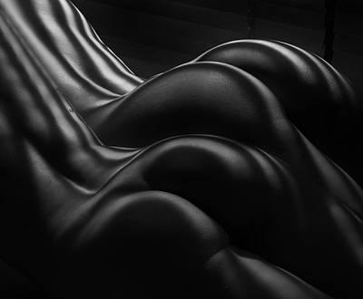 Nude Photograph - Female Zebra Stripes by Colin Dixon