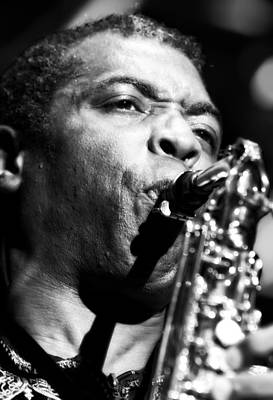 Saxophone Player Photograph - Femi Kuti Live In Concert 2 by Jennifer Rondinelli Reilly - Fine Art Photography