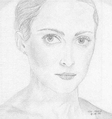 Mystique Drawing - Feminine Mystique by Mademoiselle Francais