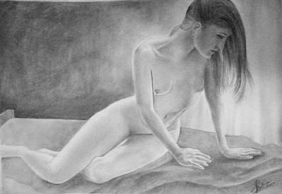 Feminine V Art Print by Suvam Majumder