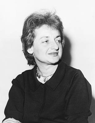 Head And Shoulders Photograph - Feminist Betty Friedan by Fred Palumbo