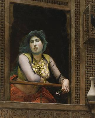 Gerome Painting - Femme Au Balcon by Celestial Images