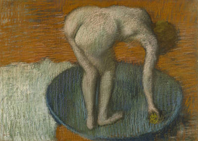 Drawing - Femme Au Tub by Edgar Degas