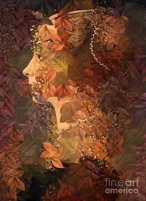 Digital Art - Femme D Automne by Aimelle