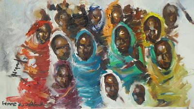Painting - femme du Darfour by Negoud Dahab