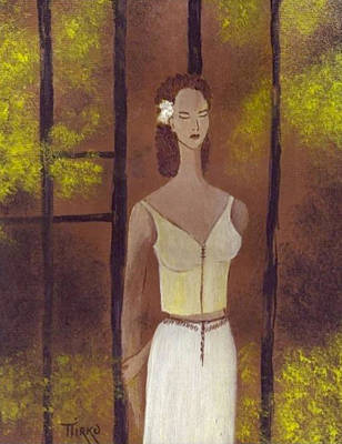 Painting - Femme En Blanc by Mirko Gallery