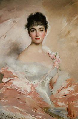 Femme En Rose Art Print