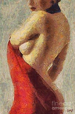 Nude Painting - Femme Fatale by Dragica  Micki Fortuna