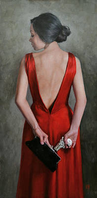 Chignon Painting - Femme Fatale by Stephanie Rew