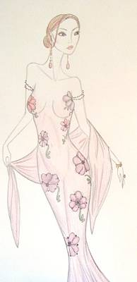 Daisy Drawing - Femme Florale by Christine Corretti