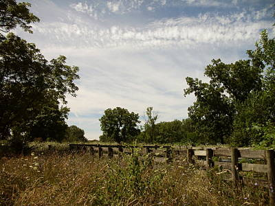 Art Print featuring the photograph Fence 2 by Cynthia Lassiter