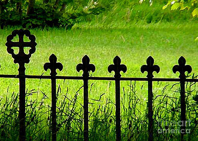Mixed Media - Fence And Cross by Art  MacKay