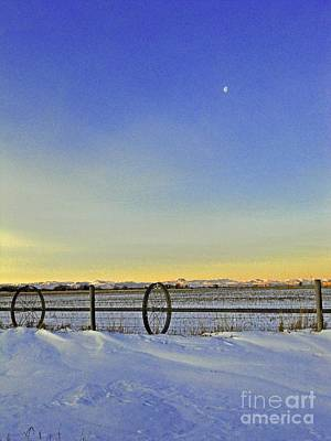 Photograph - Fence And Moon by Desiree Paquette