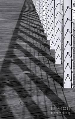 Fence And Shadows Art Print