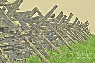 Photograph - Fence At Bloody Lane by Jonathan Harper