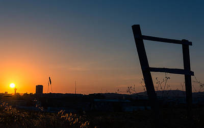 Photograph - Fence At Sunset II by Marco Oliveira