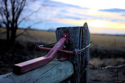 Photograph - Fence Gate Closer by Scott Carlton