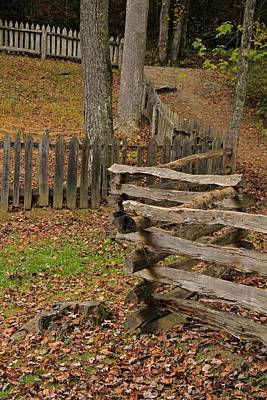 Tennesee Photograph - Fence In Autumn by Dan Sproul